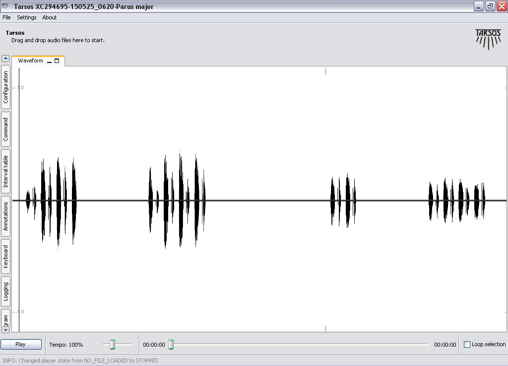 Figure 8 - Waveform of first song