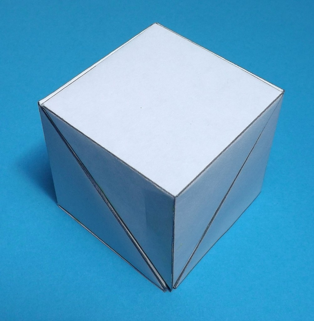 Three yangma forming a cube