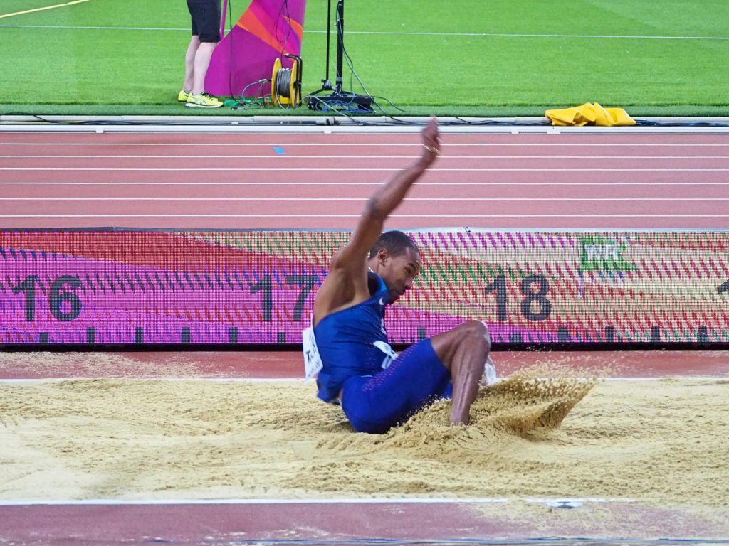 Christian Taylor winning the worlds in London